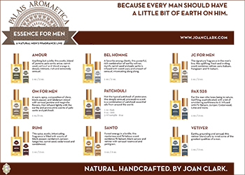 Joan Clark's all-natural Mens Line