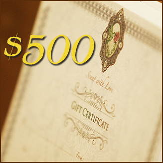 Gift Certificate- $500