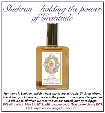Joan Clark's Shukran Fragrance-- Grace from Egypt